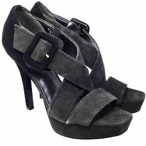 Nine West Women's Sandals Sz Us 7M Black Leather